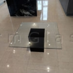 Glass Coffee Table with Black Painted Glass Base