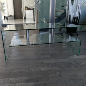 Floating Shelve Glass Coffee Table