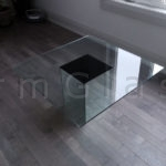 Glass Coffee Table with Mirror Base