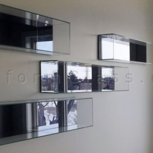 Glass Boxes with Grey Mirror Back