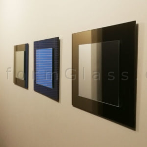 Set of Mirrors, Clear on Bronze