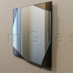 Geometric Mirror Clear on Bronze