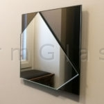 Clear on Bronze Geometric Mirror