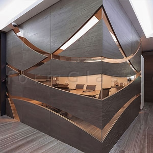 featured unique glass wall