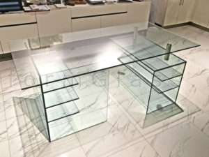 Custom Made Glass Office Desk