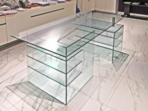 Custom Glass Desk