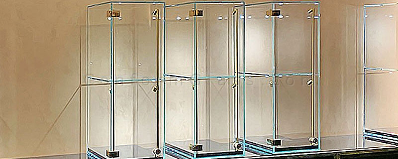 tabletop custom all glass display cabinets