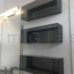 Grey Glass Wall Cabinets