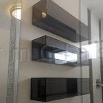 Grey Glass Box Style Shelves