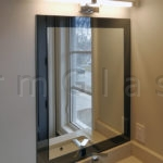 Grey Mirror Frame Vanity Mirror