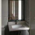 Custom Vanity Mirror with Grey Mirror Frame