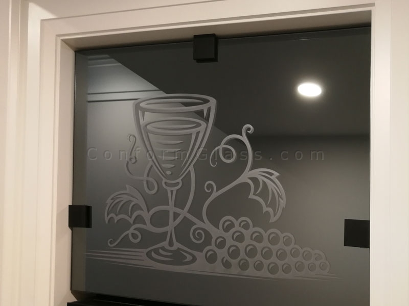Custom Sandblasted Mirror Design - Conform Glass