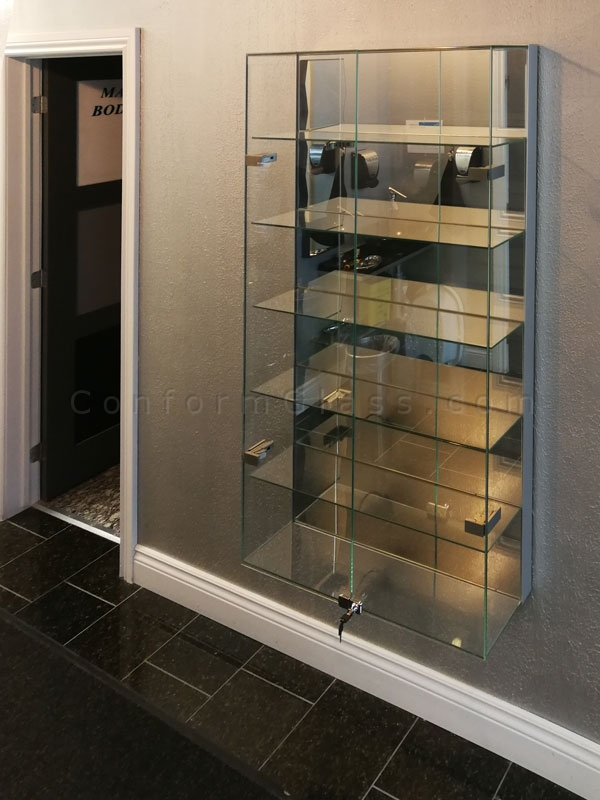 Custom All Glass Display Cabinets Conform Glass